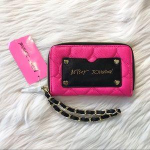 Betsey Johnson Pink Wristlet